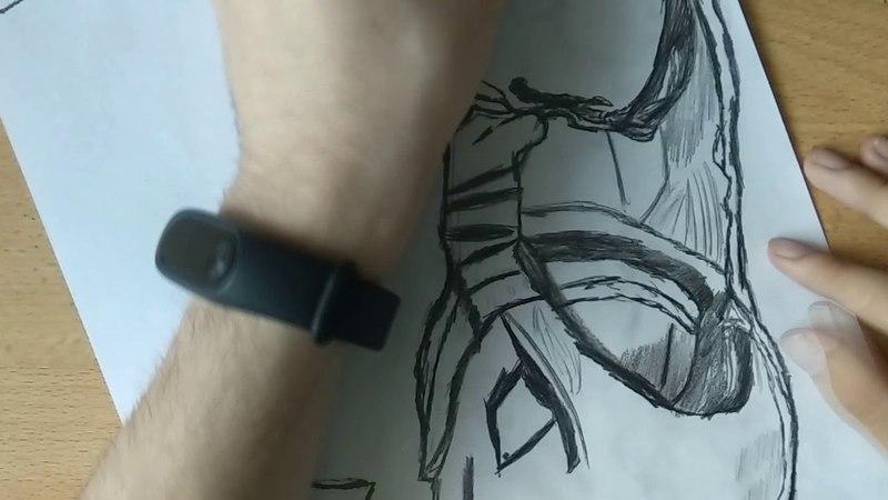 Рисунок карандашом - Халкбастер - Мстители война бесконечности (Hulkbuster)