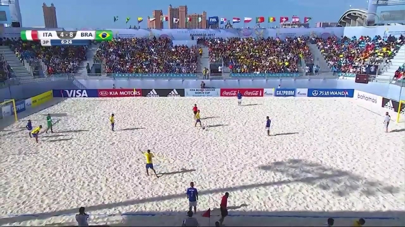 Brasil 8 x 4 Itália, Trecho Semifinal Mundial Futebol de Areia 2017 HD