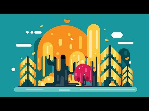 How to Draw a FOREST BACKGROUND Step by Step - Adobe Illustrator Tutorial