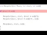 4. Сортировка слиянием Merge sort C C++