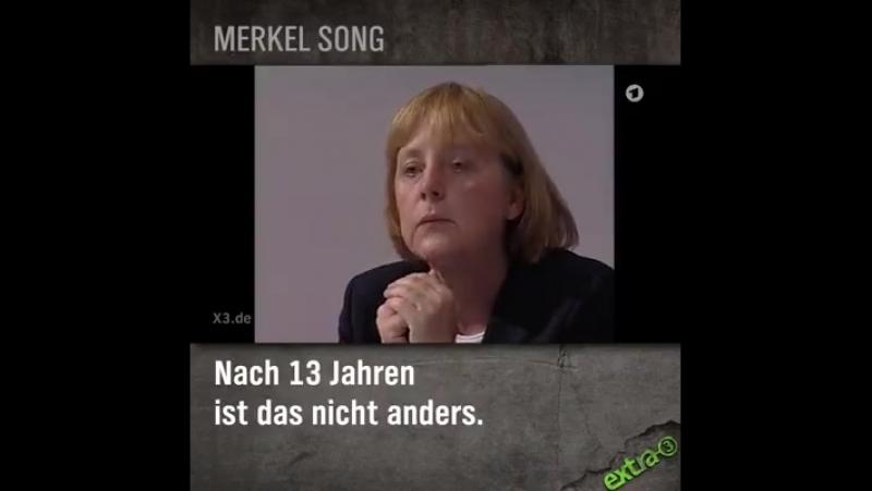 Merkel song: Ein Stern, der deinen Namen trägt ...