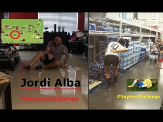 Football Players and Fans do the Neymar Challenge (Compilation) - PART 1