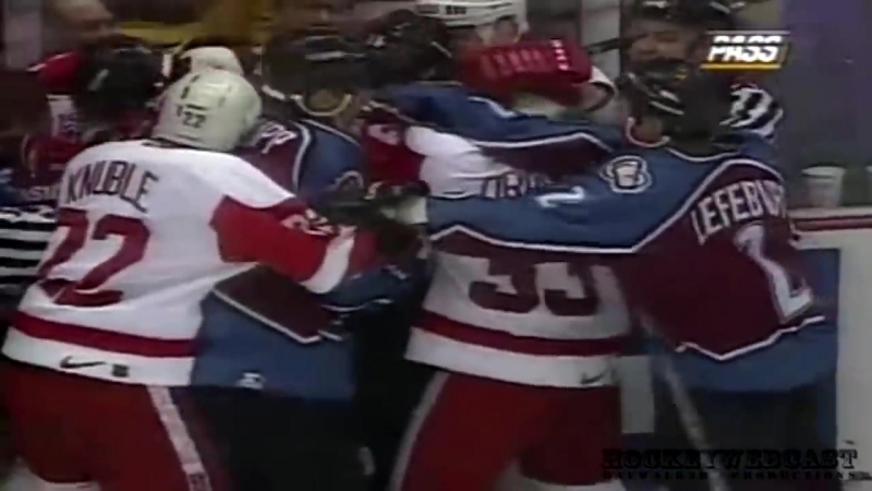 Colorado Avalanche vs Detroit Red Wings Brawl in Hockeytown March 26 1997 NHL Classic