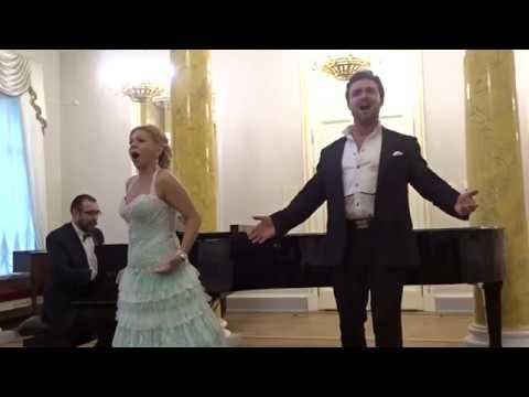 Дуэт Ганы и Данило из оперетты Веселая вдова Петр Захаров, Елена Попель
