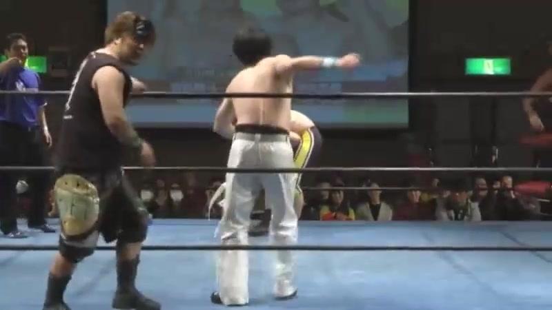 Ayato Yoshida, Shiori Asahi vs. Daigoro Kashiwa, Yasu Urano (K-DOJO - Club-K Super in TKP Garden)