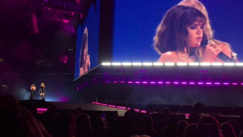 Выступление с песней «Hands To Myself» на концерте Тейлор Свифт в рамках турне «Reputation» в Пасадене (19 мая 2018)