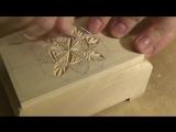 Геометрическая резьба по шкатулке. 1 часть