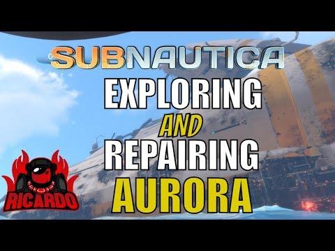Subnautica Exploring the Aurora, Drive Repair and prawn suit