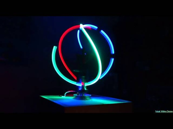 Spinning RGB LED Light Ball