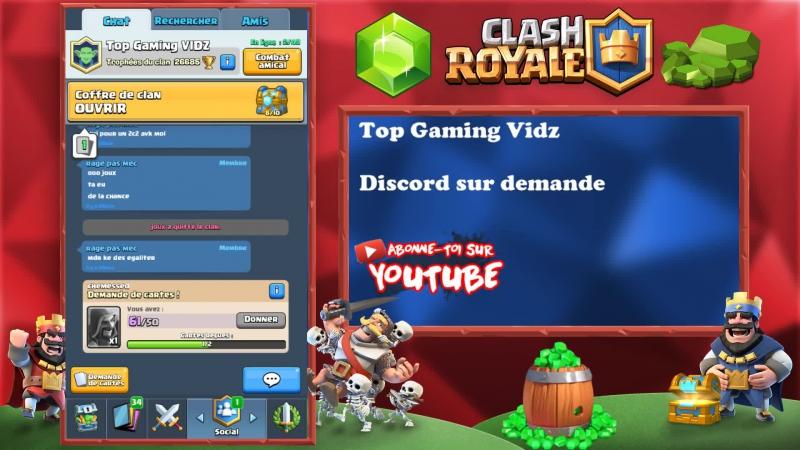 Clash Royale RUSH Coffre de clan en 2vs2 avec mes abonnés en LIVE