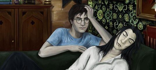 Гарри вбивал член в анус малфоя