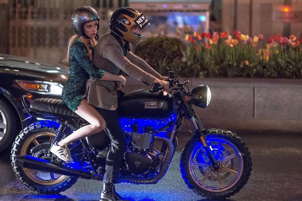Мотоцикл Triumph Bonneville в фильме «Nerve» / «Нерв»