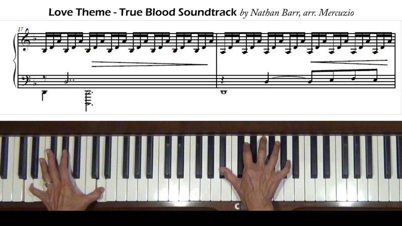 Love Theme True Blood Nathan Barr/Mercuzio Piano Tutorial