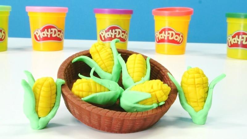 Play-Doh oyun hamuru ile mısır yapalım. Eğitici video