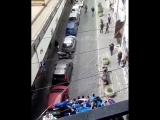 This is what happens when Napoli fans Juventus fans walk down the same street in Torino -