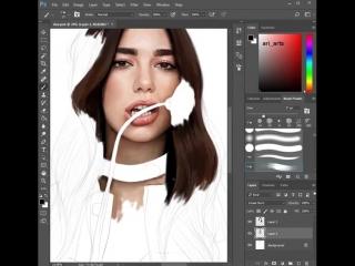 Процесс создания рисунка в Фотошопе
