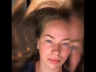 Перманентный макияж бровей сразу после процедуры Мастер Анастасия Ш