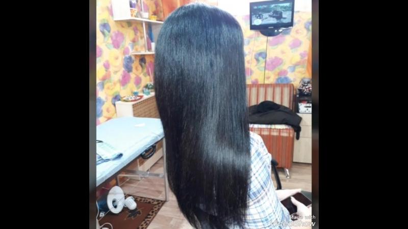 Наращивание волос плюс челки 50 см 75 стандартных прядей и 150 микропрядей