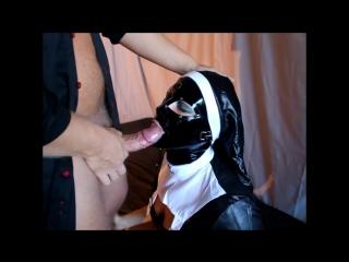 Latex belle - latex nun facefuck and deepthroat