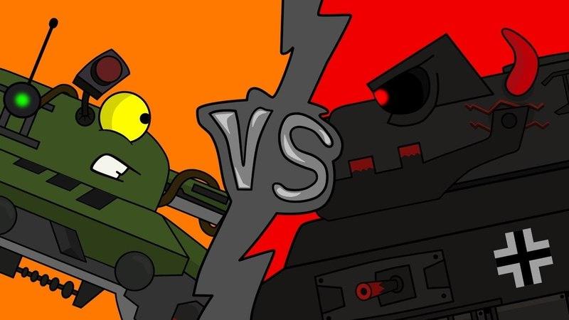 Битва с монстром Мультики про танки