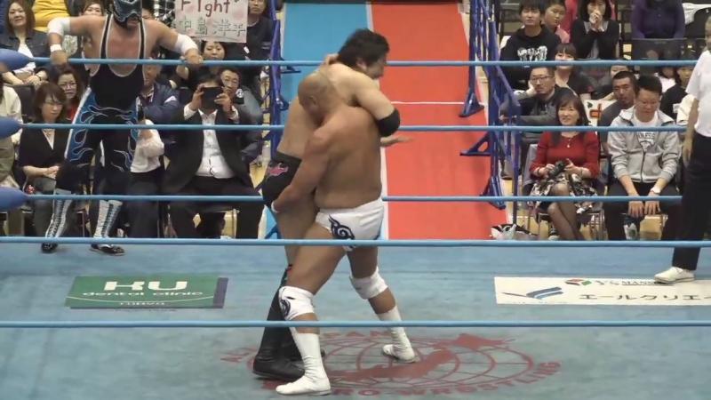Suwama, Shuji Ishikawa, Atsushi Aoki, Hikaru Sato vs. Jun Akiyama, Takao Omori, Ultimo Dragon, Yohei Nakajima (AJPW)