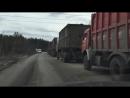 Колонна из мусоровозов на полигон Тимохово в Ногинском районе