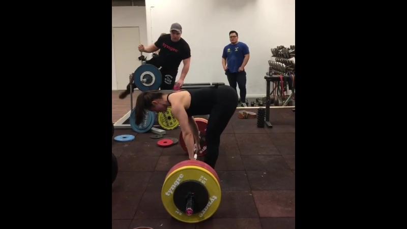 Вилма Олссон, тяга 170 кг на 3 раза