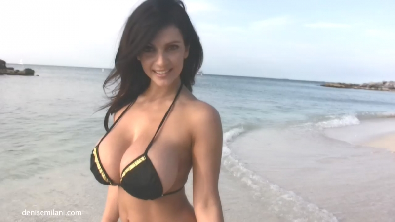 Denise Milani non-nude erotic super model big tits sexy girl Playboy эротика большие сиськи 6 размер - Southernmost Beach