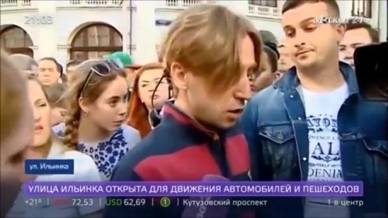 Киргиз врезался на такси в толпу людей и попытался сбежать в центре Москвы (2018