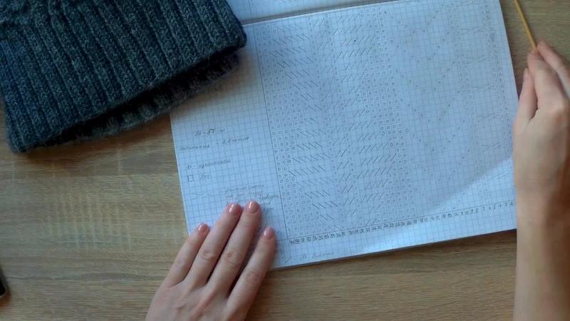 Шапка текстурными узорами