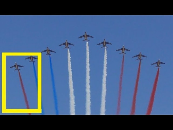 Erreur de couleur lors du survol par la Patrouille de France le 14 juillet 2018 / défilé militaire