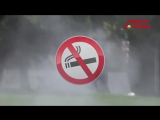 Пожарник против курения