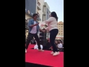 SRK dancing away with one luck fan in Dubai