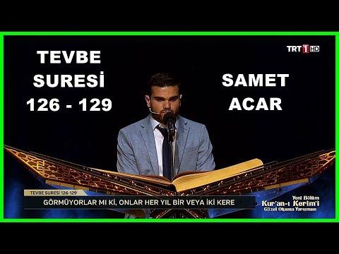 Kur'an ı Kerim'i Güzel Okuma Yarışması Samet Acar Hafta Finali