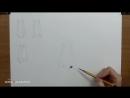 [Азбука Рисования] Как рисовать (нарисовать) нос карандашом - обучающий урок.