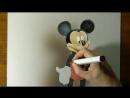 Микки Маус в 3D рисунке