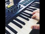 "Making custom sounds for our keyboardist to play ""The Mountain"" live."