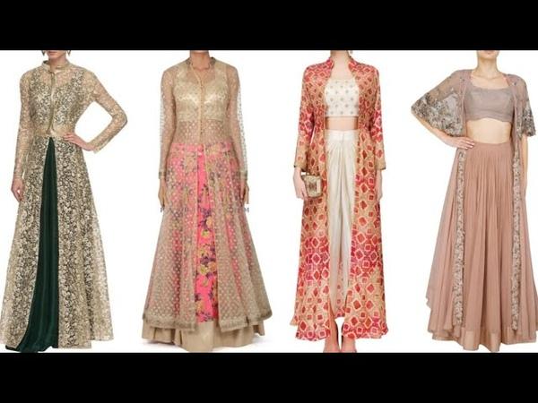 Embroidered net shrug design ideas for Lehenga, palazzo, suit, crop top lehenge/Net jacket Design
