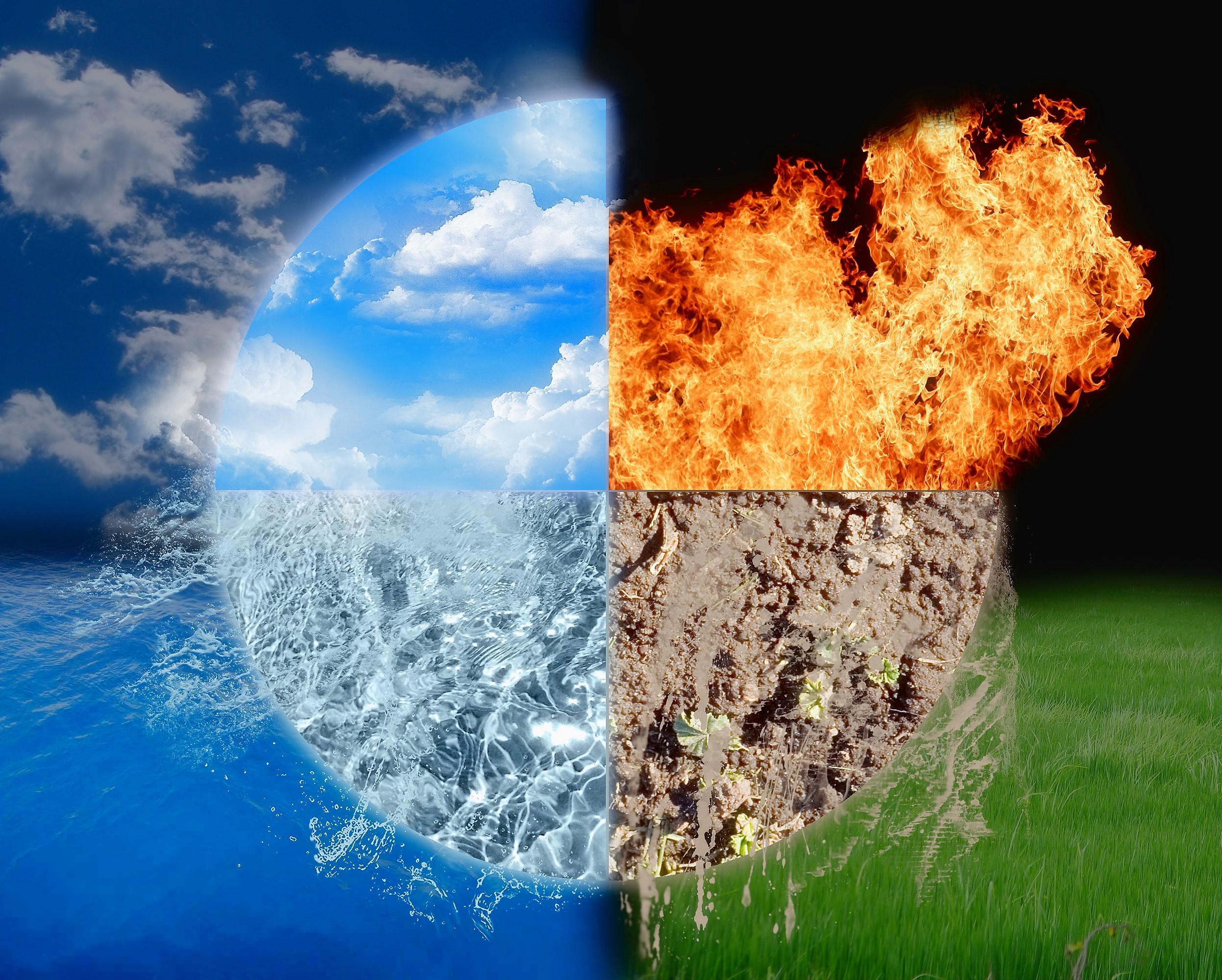 Стихии картинки огонь земля вода воздух