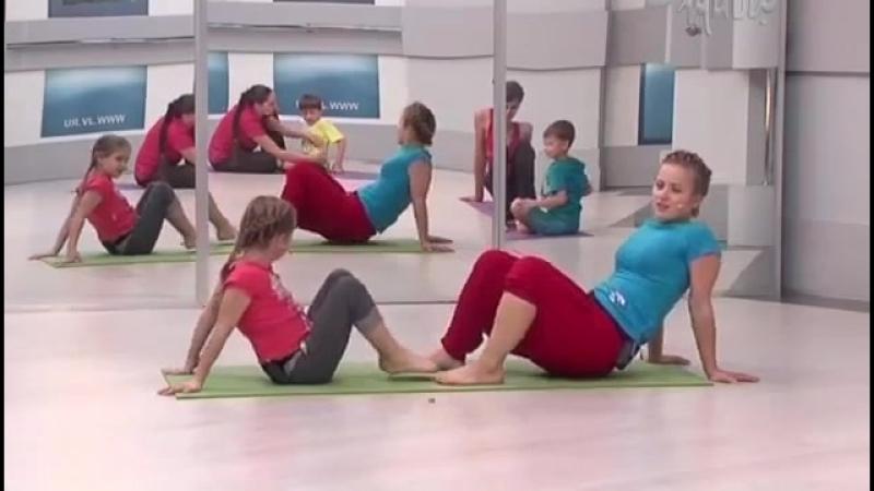 Семейная йога для детей и взрослых с Юлией Шелковиной. Занятие 02