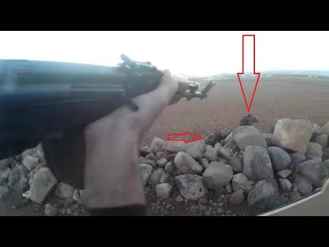 FSA in Face to Face firefight with SAA -1080p - Enemy Visible | Syria War 2018