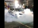 Subaru Impreza WRX STI burn out