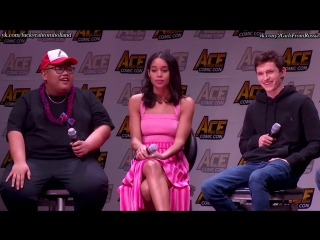 Rus(sub) Spider-Man Homecoming Panel w Tom Holland, Laura Harrier Jacob Batalon - ACE Comic Con AZ