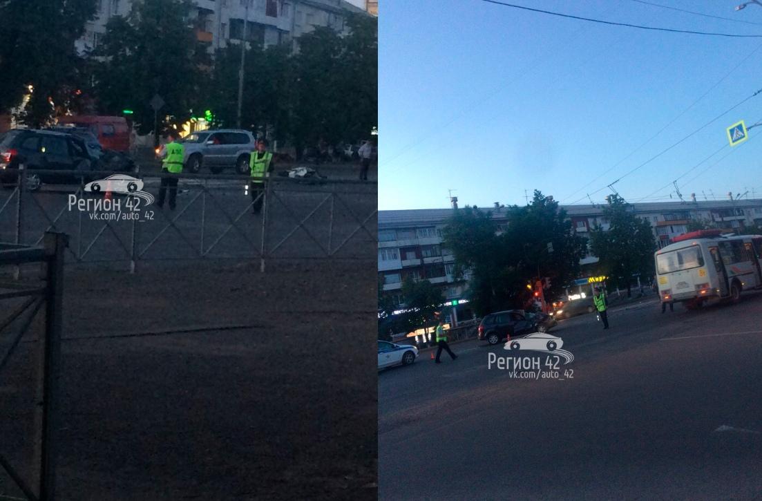 В Кемерове пассажир мотоцикла погиб в серьезном ДТП с LADA Kalina