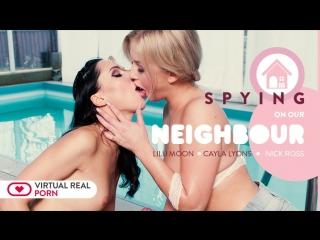 #VRon Cayla Lyons & Lilu Moon (Spying On Our Neighbour) [Virtual Reality, VR, 4K, UHD] [SideBySide] [Oculus Rift / Vive]