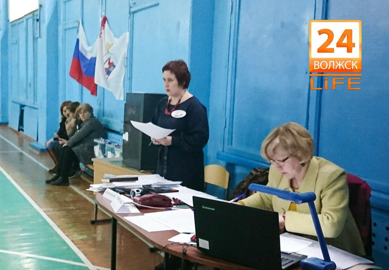 Предварительная явка избирателей по Волжску на выборах Президента РФ составляет около 64%.