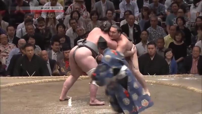 ტოჩინოშინის 15 ვე ბრძოლა მაისის ბაშოზე Tochinoshin all 15 bouts on Natsu basho