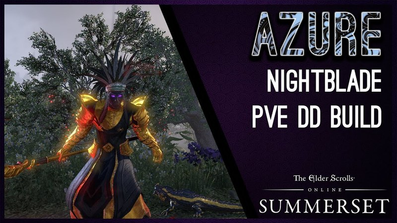 Magicka Nightblade Build PvE Azure -Summerset Chapter ESO