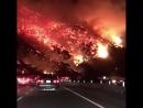 Пожар в горных лесах  Калифорнии