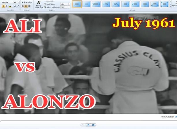 Muhammad Ali vs Alonzo Johnson 8th of 61 - July 1961
